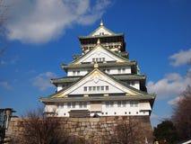 Osaka Palace. Building with blue sky ,Japan Stock Photos