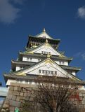 Osaka Palace från olik vinkel arkivfoto