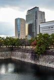 Osaka pejzaż miejski z chmurzącym niebem fotografia royalty free