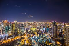 Osaka pejza? miejski zdjęcia stock