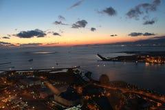 Osaka Port sunset stock images
