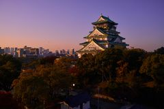 Osaka Prefecture in Japan in the twilight Stock Photo