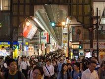 Osaka Shinsaibashi shoppinggata Arkivfoton