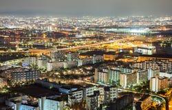 Osaka skyline Stock Photos