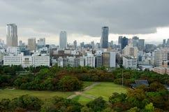Osaka Skyline on a cloudy day Stock Photography