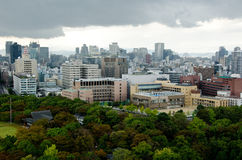 Osaka Skyline on a cloudy day Stock Images