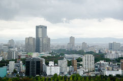 Osaka Skyline on a cloudy day Royalty Free Stock Photo