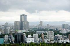 Osaka Skyline on a cloudy day Royalty Free Stock Photo