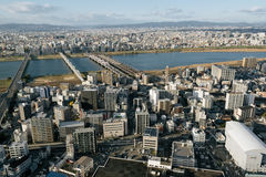 Osaka Skyline. Royalty Free Stock Photos
