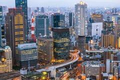 Osaka Skyline Kansai, Japón Fotografía de archivo libre de regalías