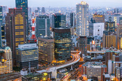 Osaka Skyline Kansai , Japan Royalty Free Stock Photography