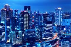 Osaka skyline at night Royalty Free Stock Photos