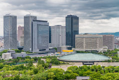 Osaka skyline on a overcast day, Japan Royalty Free Stock Photography
