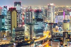 Osaka skyline Stock Image