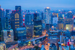Osaka skyline view from Umeda sky tower in Japan Stock Photography