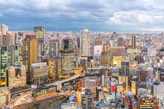 Osaka Skylines Royalty Free Stock Photo