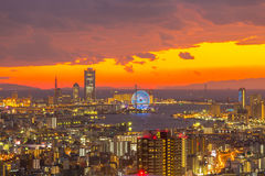 Osaka Skylines Royalty Free Stock Photos