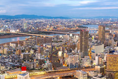 Osaka Skylines Royalty Free Stock Photo
