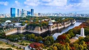 Osaka slott Arkivbild