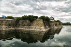 Osaka slott fotografering för bildbyråer