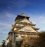 Osaka slott i Kyoto, Japan Arkivbild