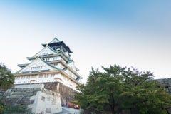 Osaka slott i Kyoto, Japan Fotografering för Bildbyråer
