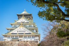 Osaka slott i Matsumoto, Japan Arkivfoton