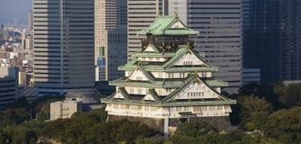 Osaka slott. Japan Arkivbild