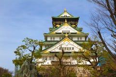 Osaka slott, Japan Royaltyfria Bilder