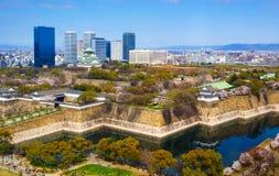 Osaka slott, osaka, Japan Royaltyfri Foto