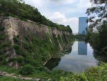 Osaka slott, osaka, Japan Arkivfoton