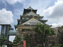 Osaka slott, osaka, Japan Arkivbilder