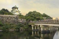 Osaka slott, osaka, Japan Royaltyfria Bilder