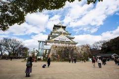 Osaka slott på Japan arkivbild