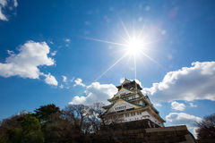 Osaka slott på Japan royaltyfri foto