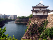 Osaka slottvall Royaltyfri Fotografi