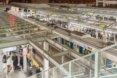 Osaka staci kolejowej platforma, Osaka, Japonia Fotografia Stock