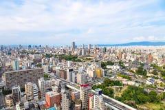Osaka stadslandskap, Japan Arkivfoto