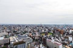 Osaka stadslandskap, Japan Royaltyfri Bild