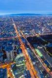 Osaka-Stadt von Abeno Harukas Stockfoto