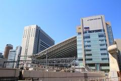 Osaka Station tecken framme av Osaka Station Arkivbilder