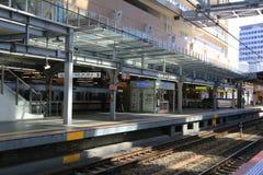 Osaka Station tecken framme av Osaka Station Royaltyfria Bilder