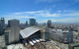 Osaka Station and Umeda Cityscape Stock Photography