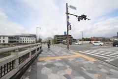 Osaka street view in Japan Stock Photo
