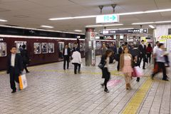 Osaka subway Royalty Free Stock Images