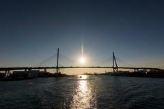 Osaka Tempozan Oohashi Bridge Photos libres de droits