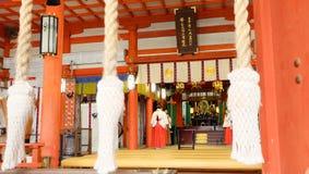 "Osaka Tenmangu Shrine (大阪天満宮, ÅŒsaka TenmangÅ "") Royaltyfria Foton"