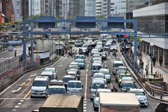 Osaka traffic Royalty Free Stock Photo