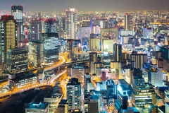 Osaka umeda night Royalty Free Stock Image