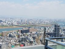 Osaka Umeda Sky Building from the top. royalty free stock photos